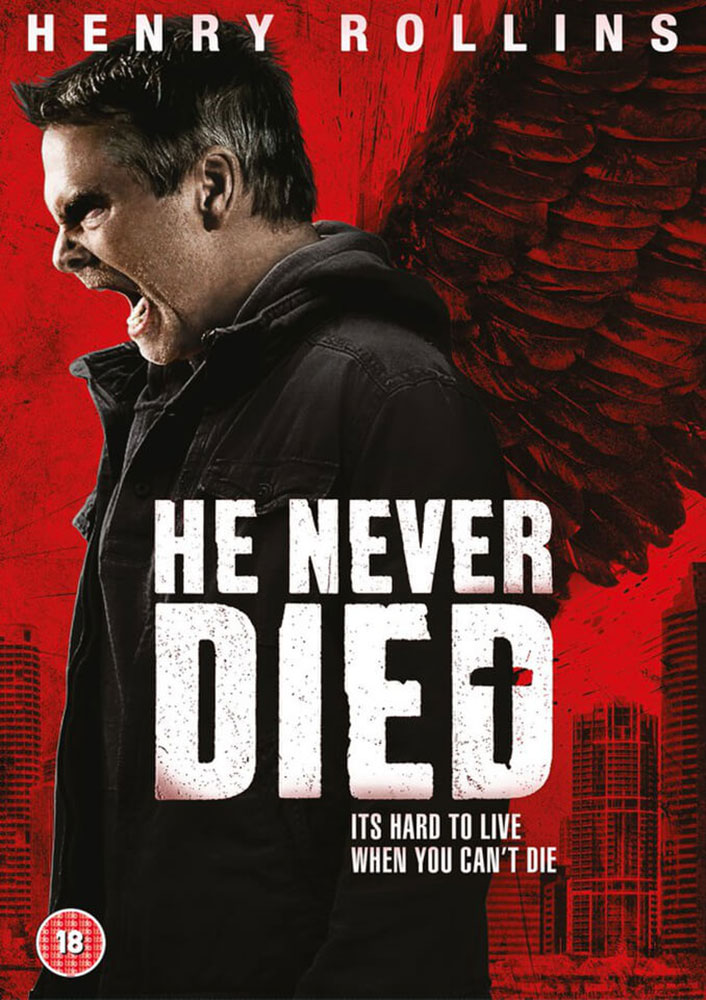 Severed Cinema review of He Never Died starring Henry Rollins on DVD in the UK from Gilt Edge Media