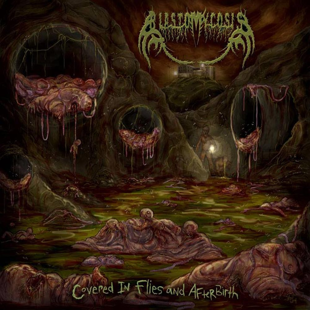 Severed Cinema music review of the Blastomycosis album Covered in Flies and Afterbirth from CDN Records
