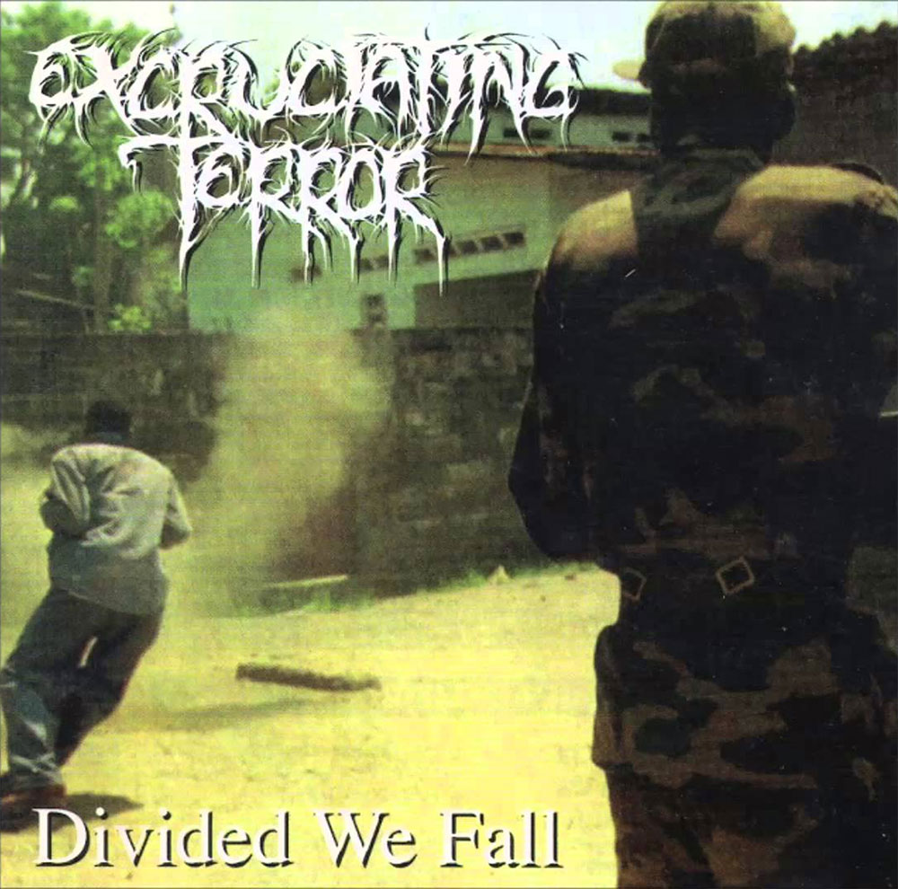 Severed Cinema music review of the Excruciating Terror album Divided We Fall from Pessimiser Records
