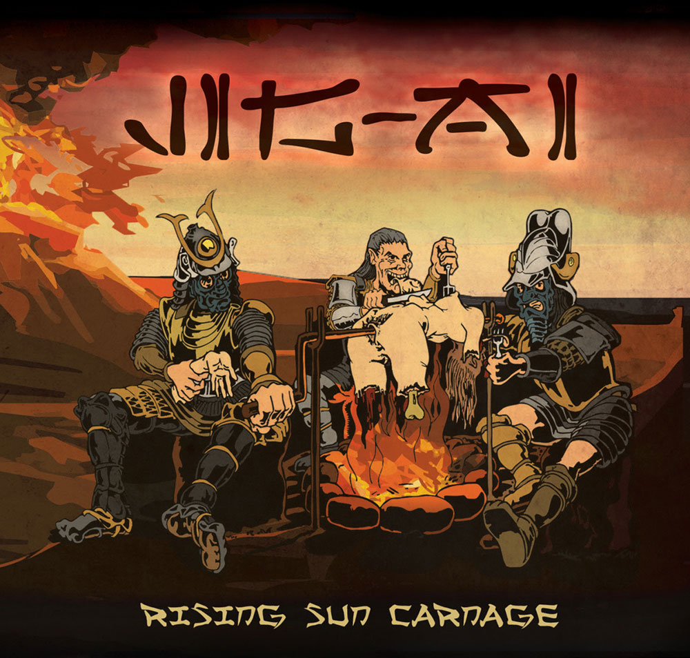 Severed Cinema music review of the Jig-Ai album Rising Sun Carnage from Bizarre Leprous Productions