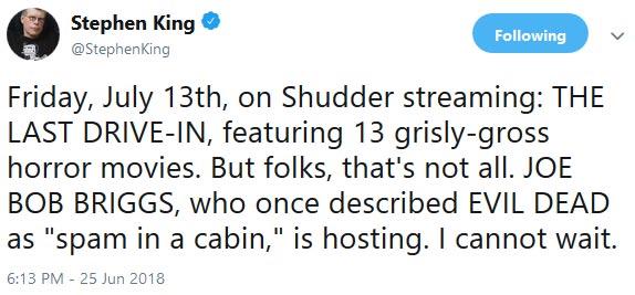 http://severedbloodlines.com/severed-cinema/images/news/07-14-2018/stepen-king-tweets-joe-bob-briggs.jpg