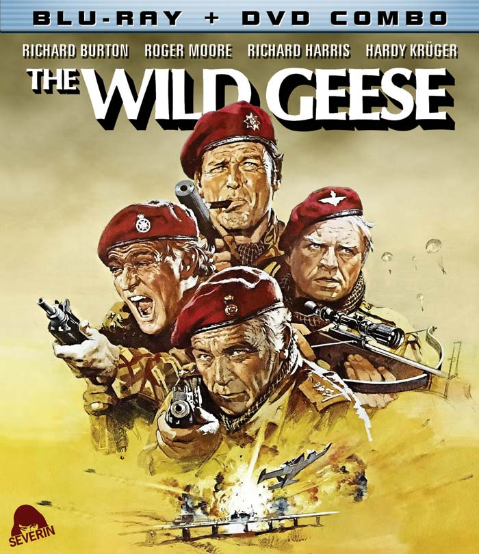 "Severin Films ""The Wild Geese"" Blu-ray/DVD Combo Cover Artwork on Severed Cinema"