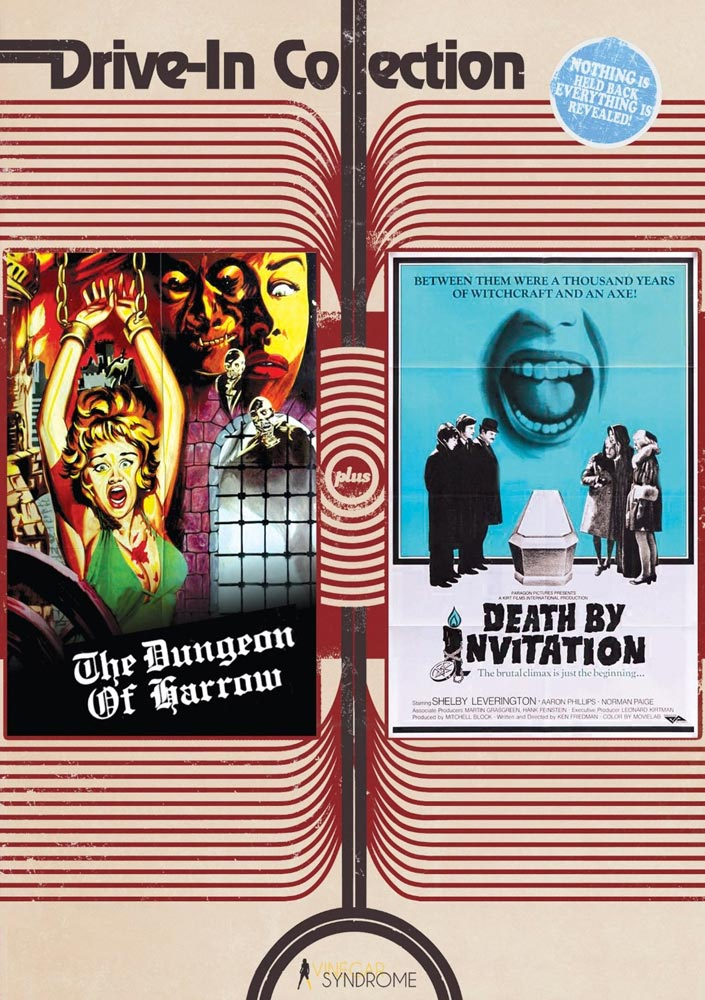 Dungeon of Harrow and Death by Invitation from Vinegar Syndrome on Severed Cinema